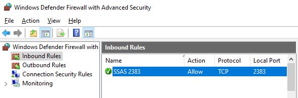 Connect to SSAS Cube on Azure VM from Excel PivotTable